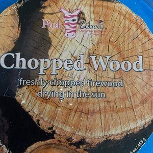 Pink Zebra Sprinkles - Chopped Wood